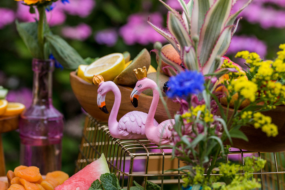 flamingo wedding - colourful wedding - rainbow wedding - garden wedding - summer wedding - unconventional wedding - alternative wedding- unique wedding food