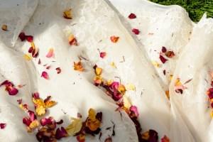 Uniquely funky eco confetti - loose confetti for weddings - Confetti on a wedding dress