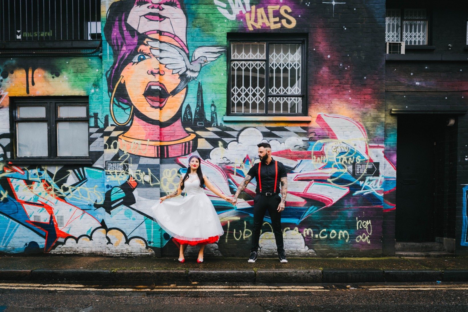 Urban Rockabilly Wedding - Urban Wedding - Magpie-Eye Photography- Unconventional Wedding- urban wedding photos - alternative wedding dress- alternative groomswear