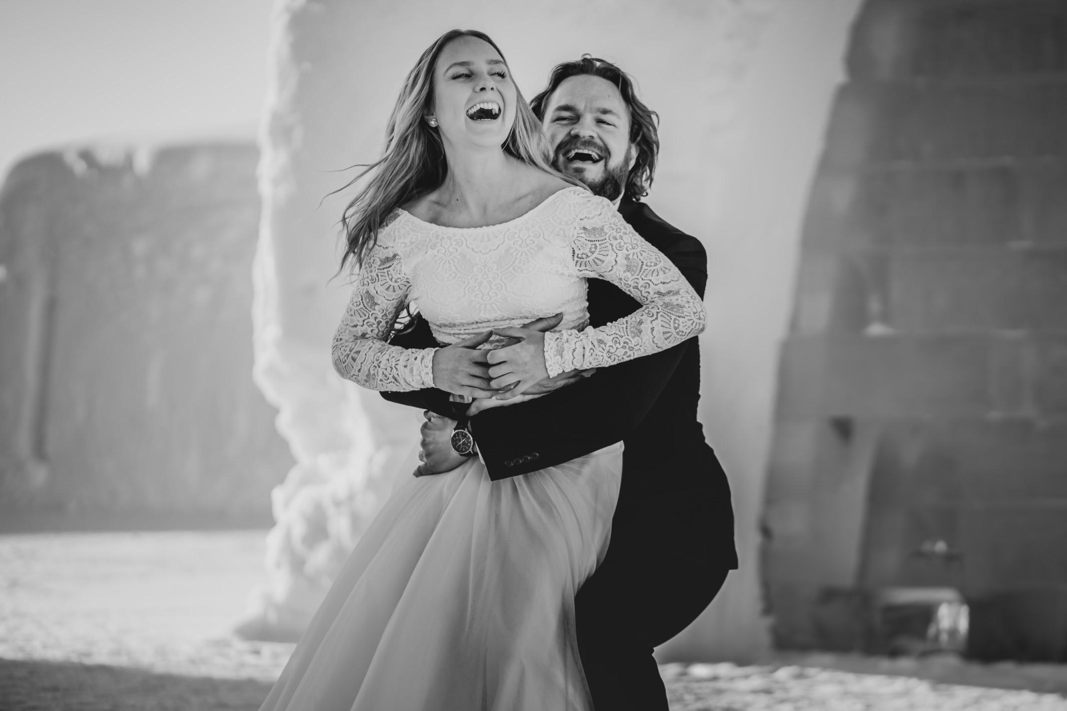 winter wedding at icehotel sweden - cinematic wedding photography - ice wedding - elopement in sweden - creative wedding photographer - unconventional wedding - alternative wedding - unique wedding - artistic wedding -2
