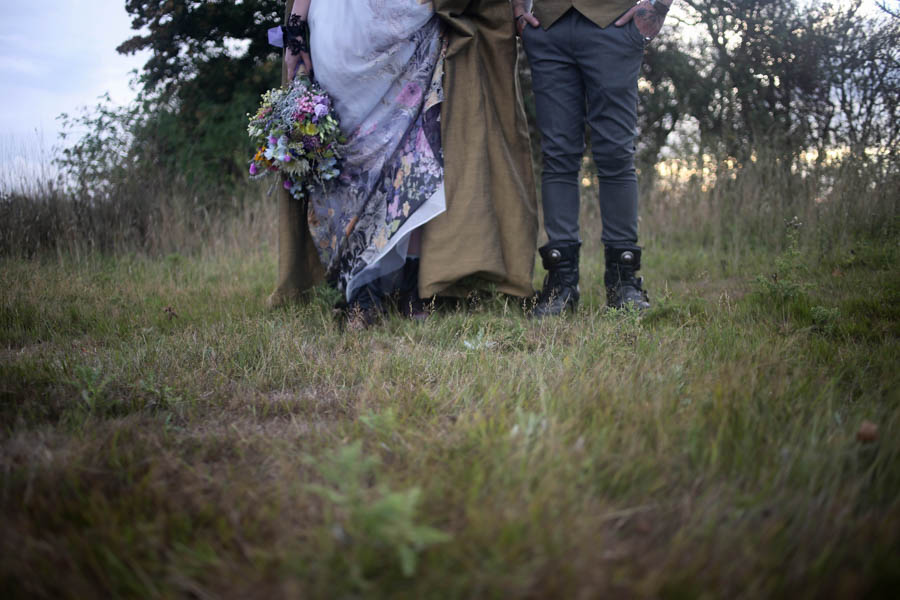 ethereal nature wedding - neopagan wedding - pagan wedding - witchy wedding - alternative wedding couple - alternative wedding wear
