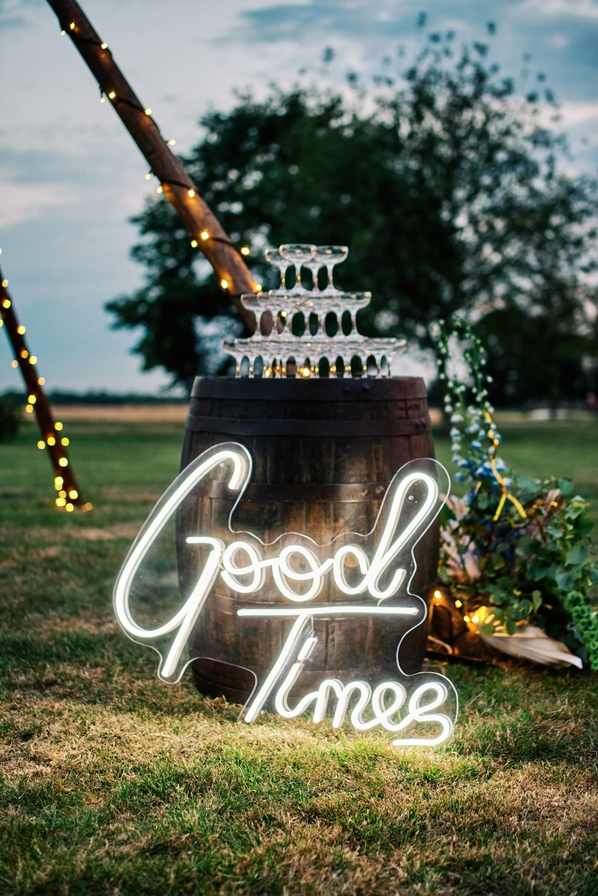 nhs wedding - paramedic wedding - blue and gold wedding - outdoor wedding - micro wedding - surprise wedding - neon wedding sign