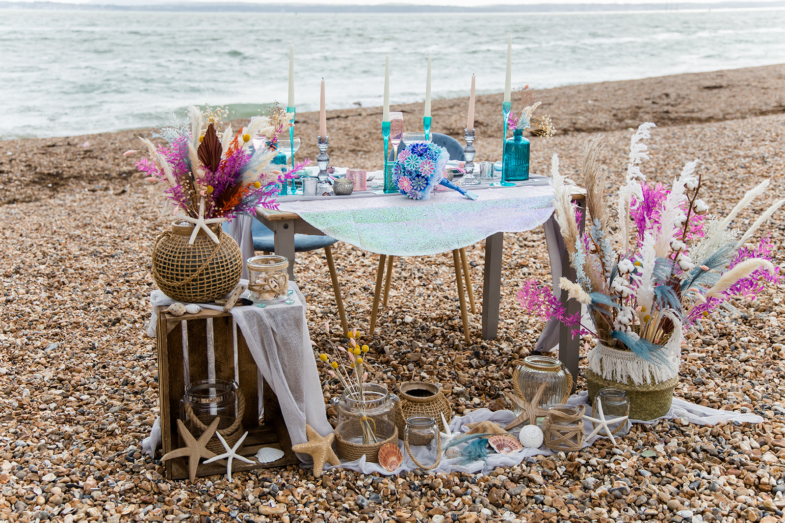 mermaid wedding - beach wedding - quirky wedding - unique wedding - alternative seaside wedding - alternative wedding