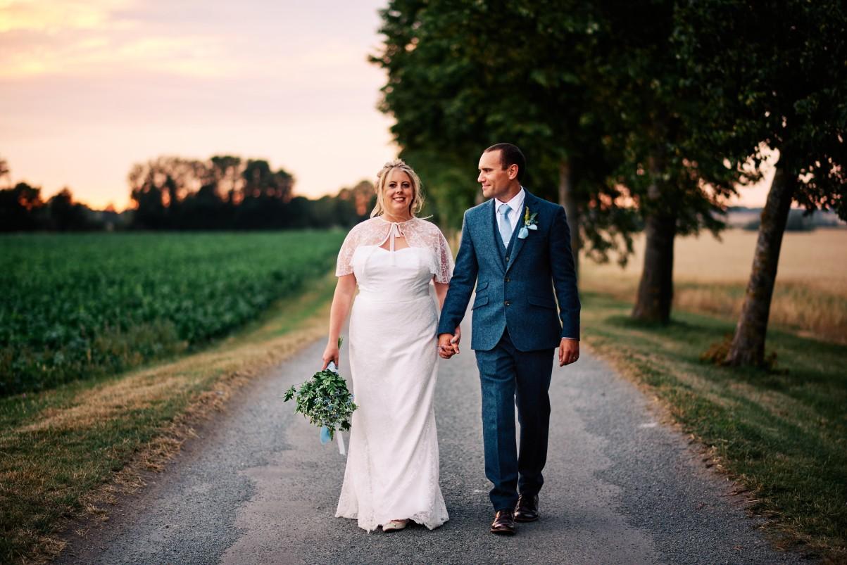 nhs wedding - paramedic wedding - blue and gold wedding - outdoor wedding - micro wedding - surprise wedding - cinematic wedding photography