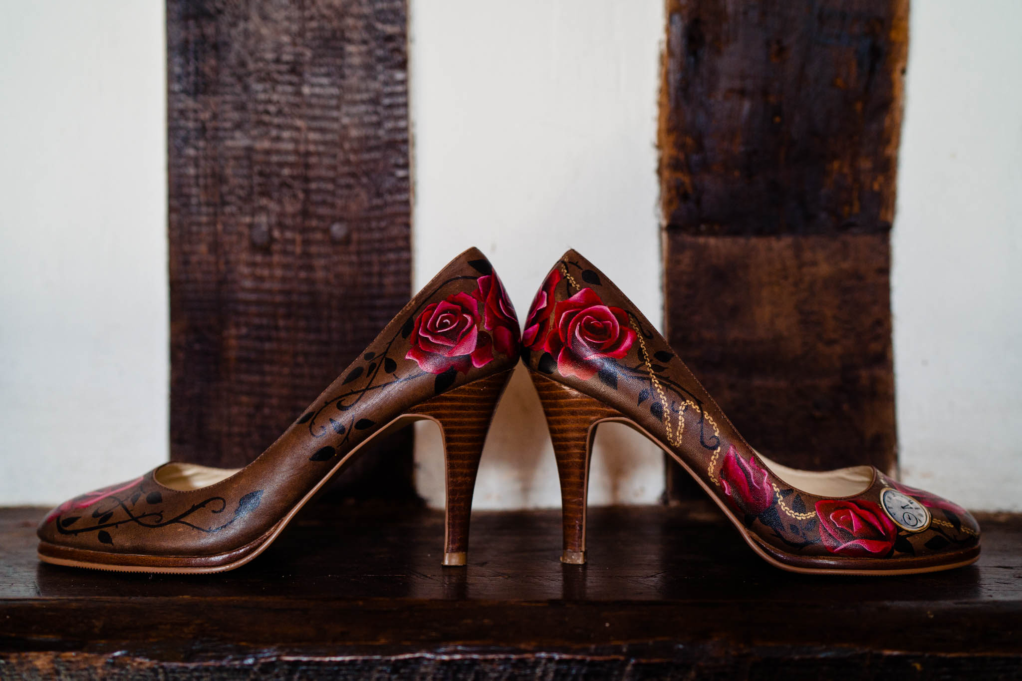 hand painted wedding shoes - bespoke wedding shoes with roses