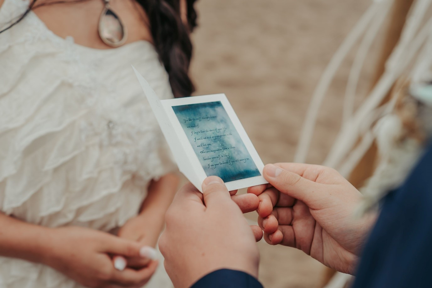beach elopement - beach wedding - eco friendly wedding -tempest themed wedding - unique wedding vows