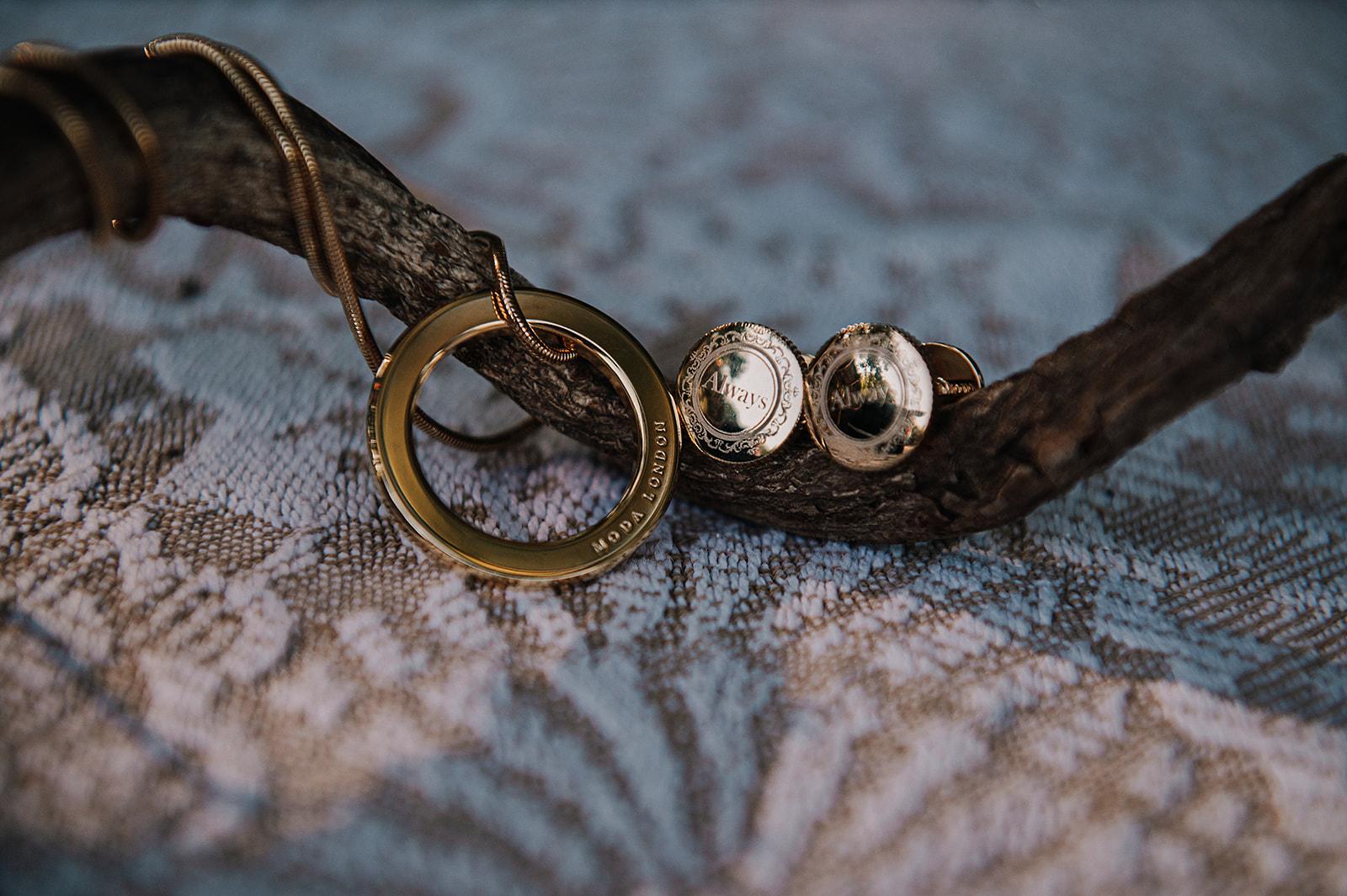 gold wedding cufflinks - gold wedding necklace