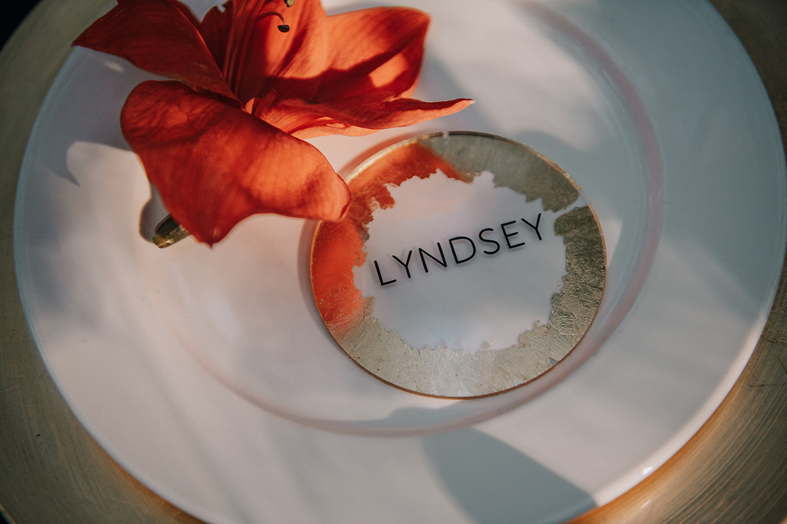 gold wedding place name