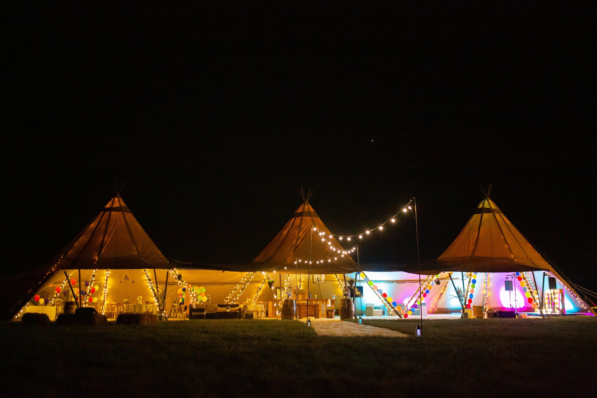 rainbow festival wedding - colourful wedding - quirky wedding ideas - wedding marquee - festival wedding tent