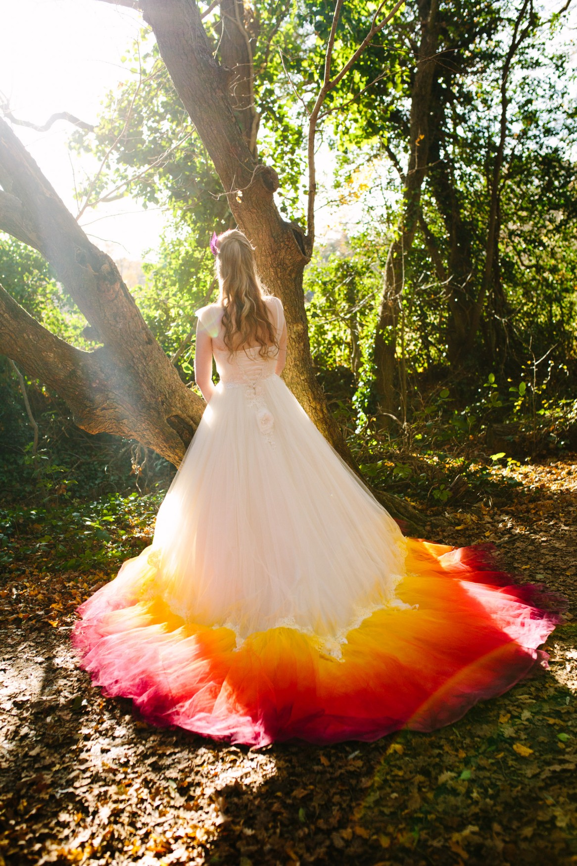 ombre wedding dress - dip dye wedding dress - alternative wedding dress - alternative bridal wear - colourful wedding dress - autumn wedding dress