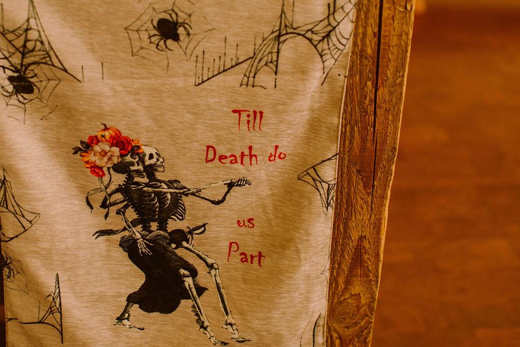 til death do us part artwork - dancing skeletons