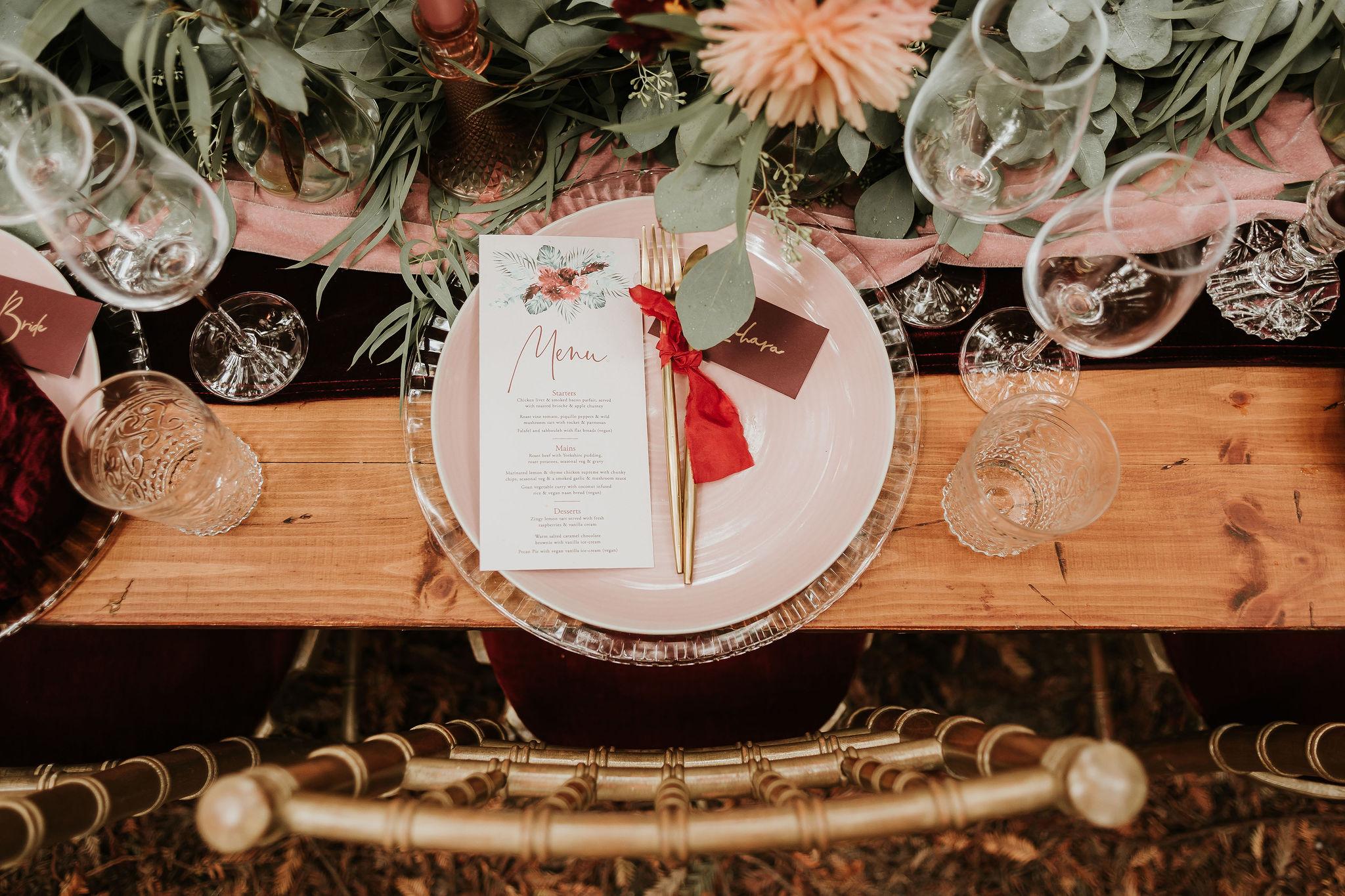 modern boho wedding - elegant wedding stationery - unique wedding styling - pastel wedding styling