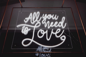 Smithy's Events - All You Need Is Love Neon Sign