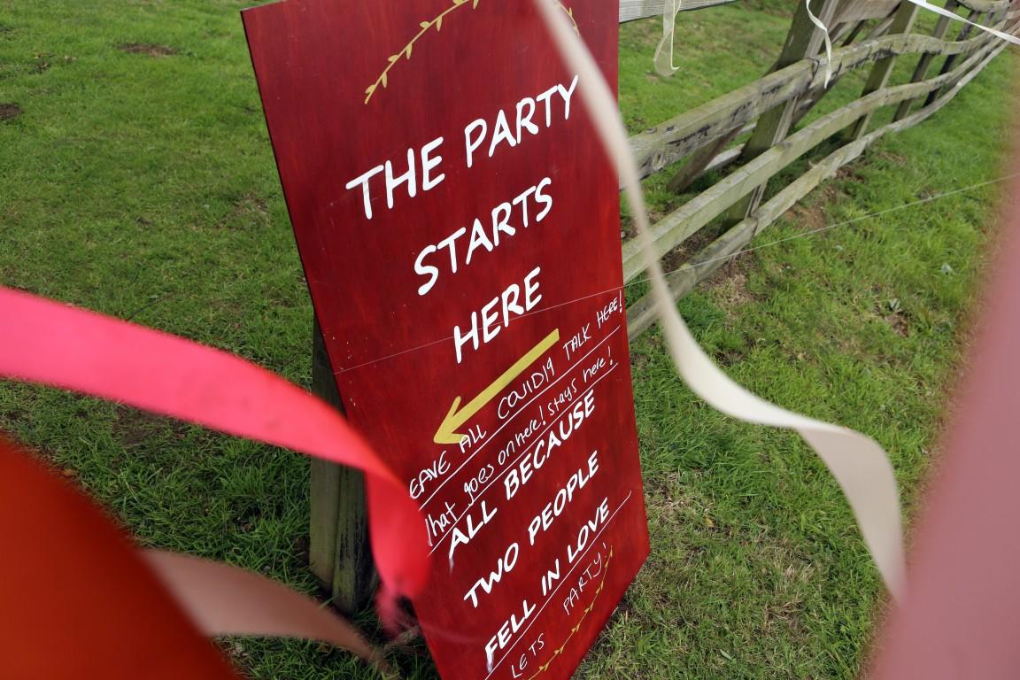 DIY festival wedding sign