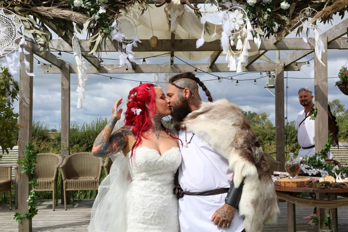 festival viking wedding - alternative wedding inspiration - unconventional wedding - alternative wedding blog - pagan wedding ceremony