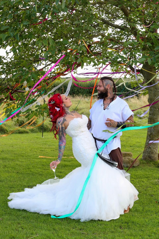 festival viking wedding - alternative wedding inspiration - unconventional wedding - alternative wedding blog - unique wedding photos