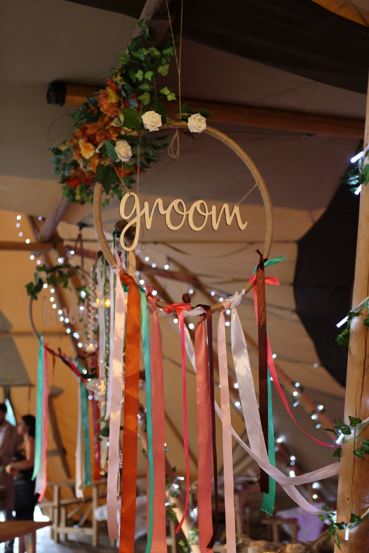 bohemian wedding decorations - wedding dream catcher - festival wedding decor