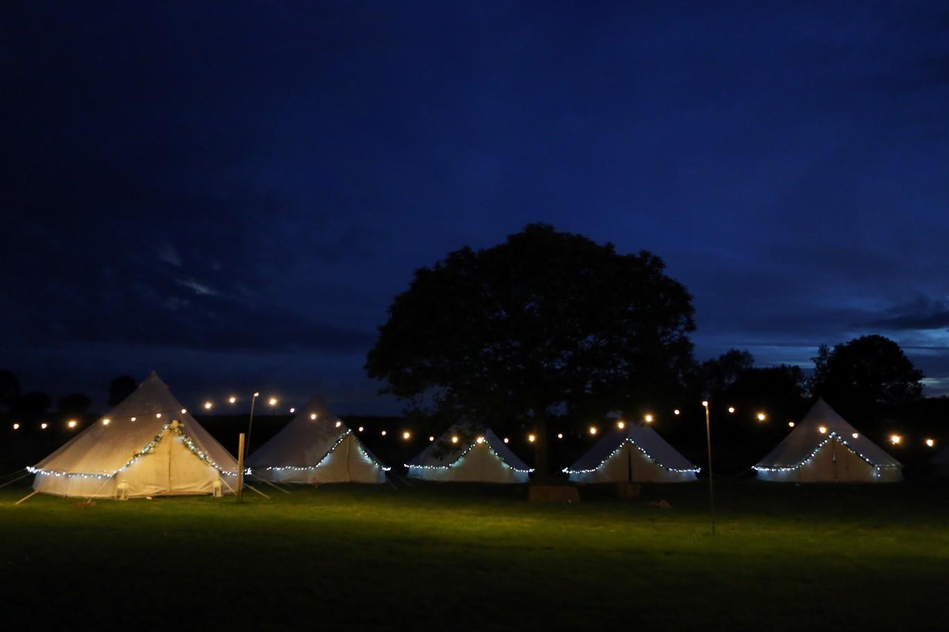 festival wedding inspiration - wedding tipis - festival wedding glamping
