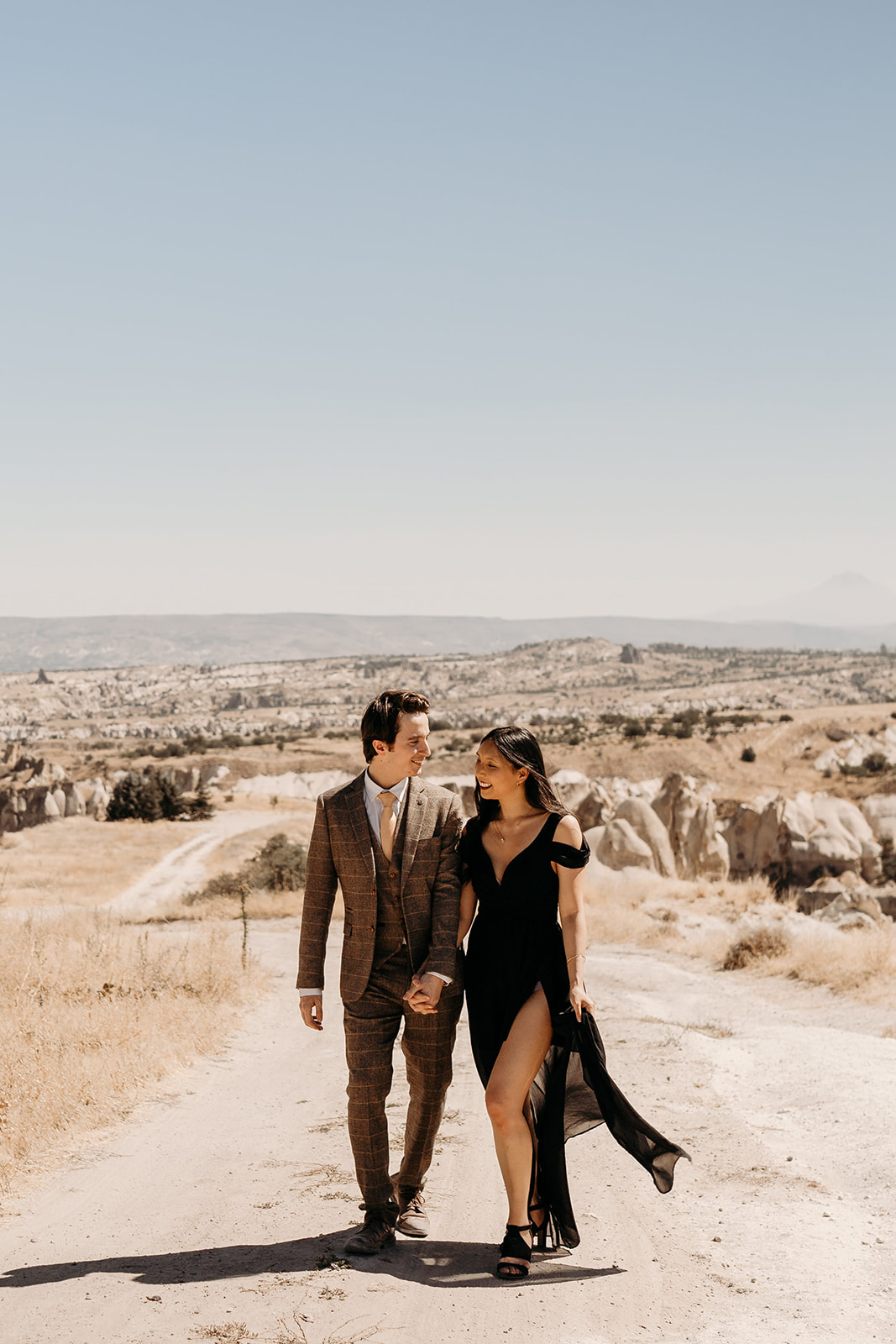 Cappadocia wedding - beautiful elopement photography - Turkish elopement photoshoot - desert wedding photographs