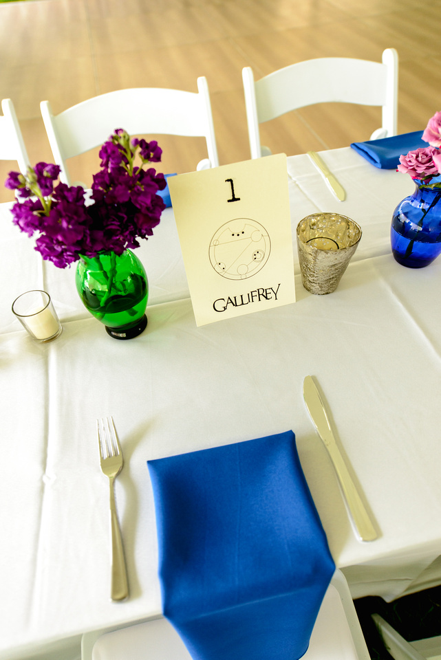 dr who wedding table decorations - quirky wedding theme - unconventional wedding