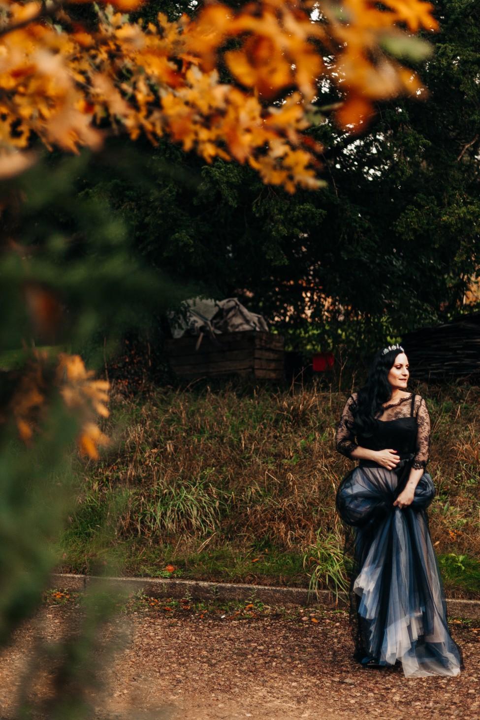 bespoke black wedding dress- alternative bridal wear - unique wedding inspiration