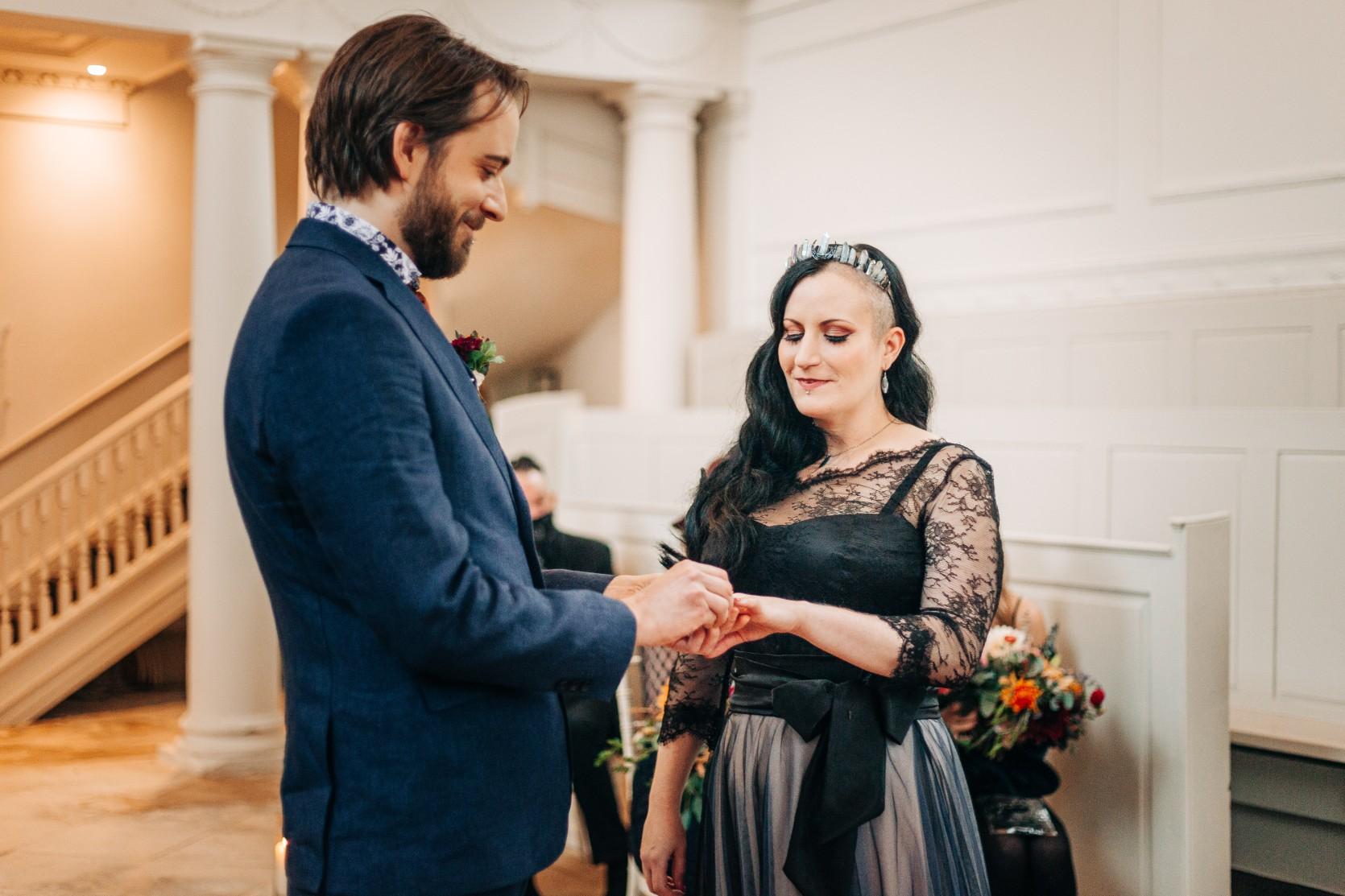 intimate alternative wedding - alternative micro wedding - small wedding ceremony