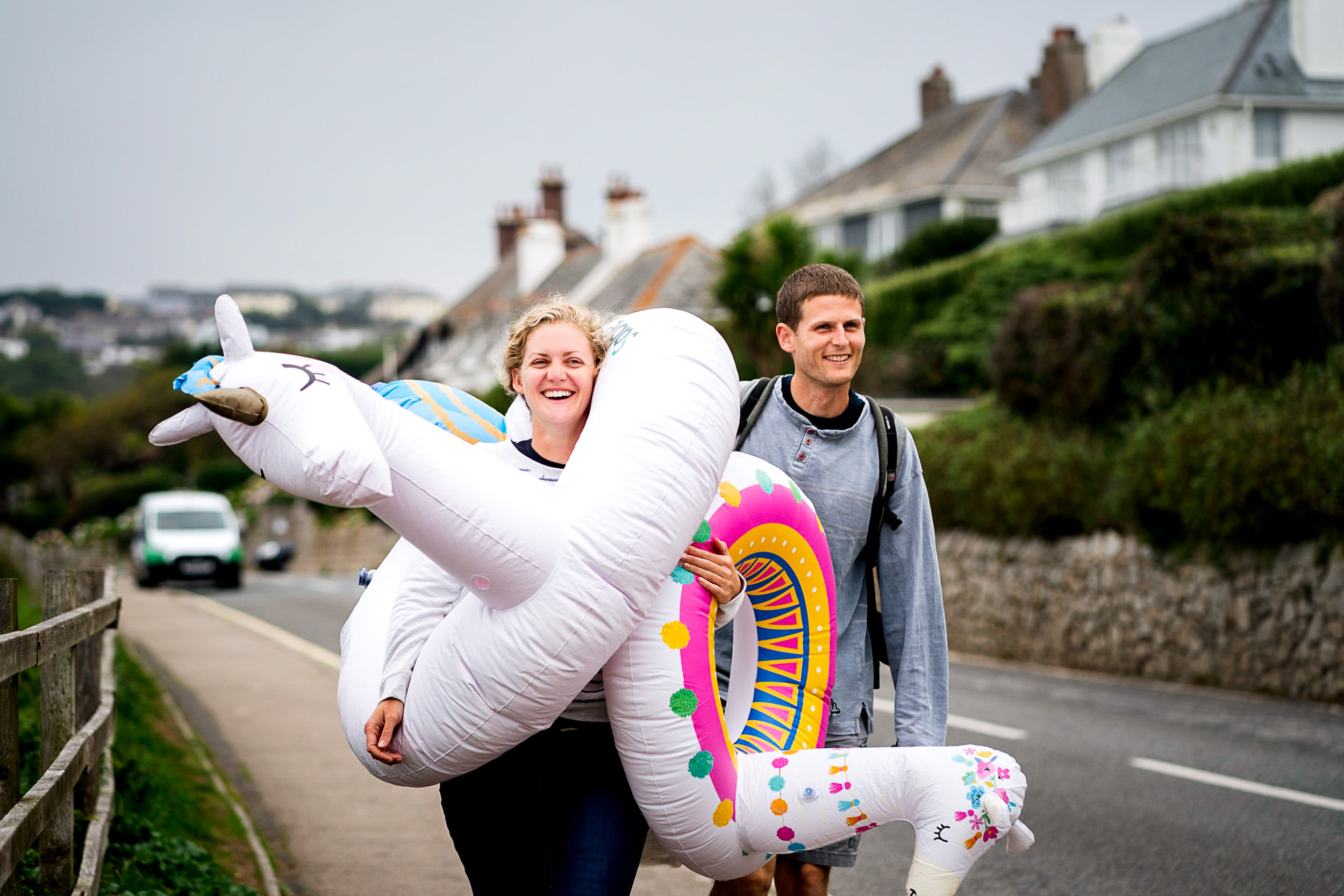 seaside wedding - cornwall wedding - st mawes wedding - seaside micro wedding - fun wedding