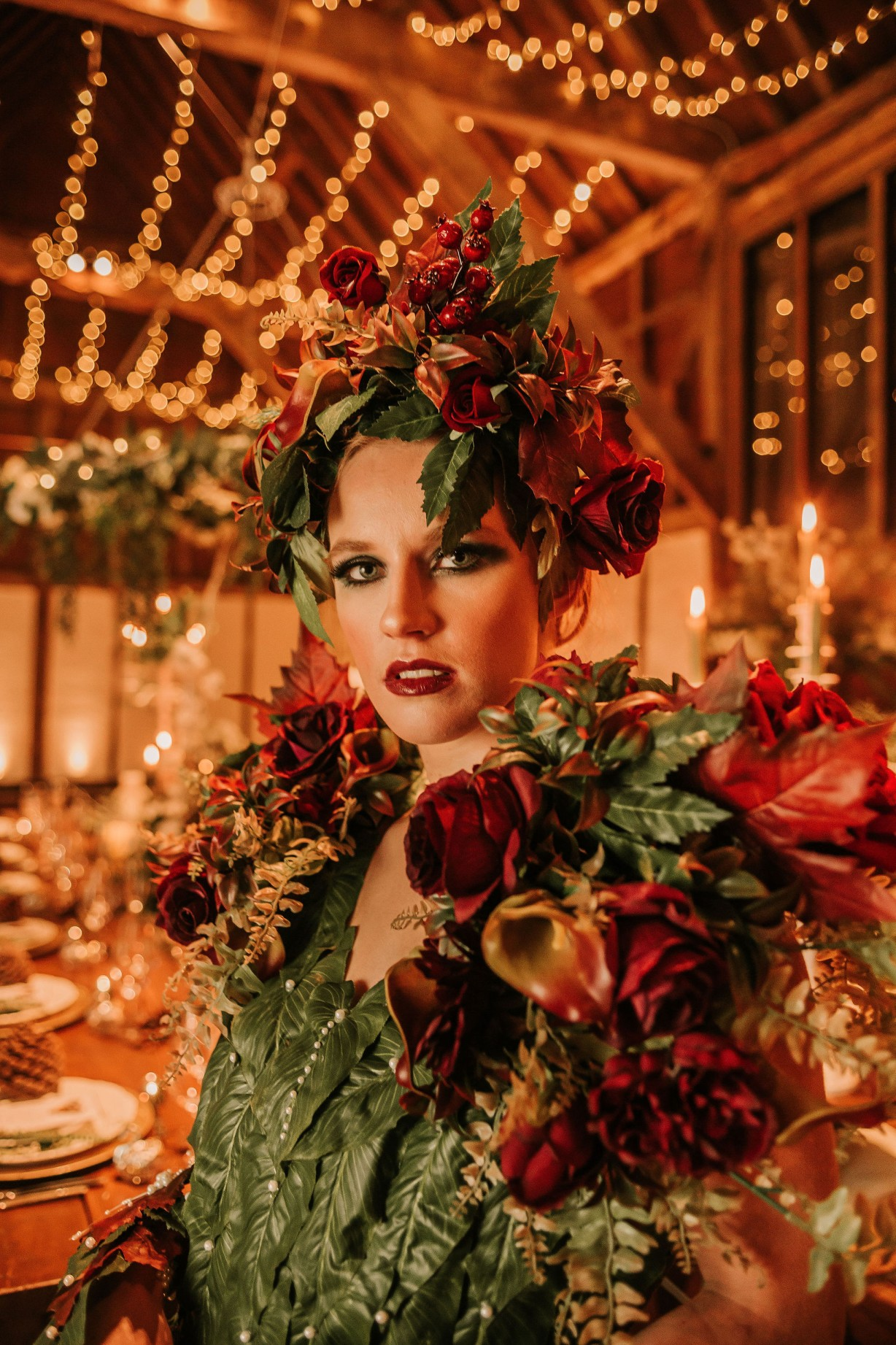 enchanting winter wedding - unique bridal look - artistic wedding ideas