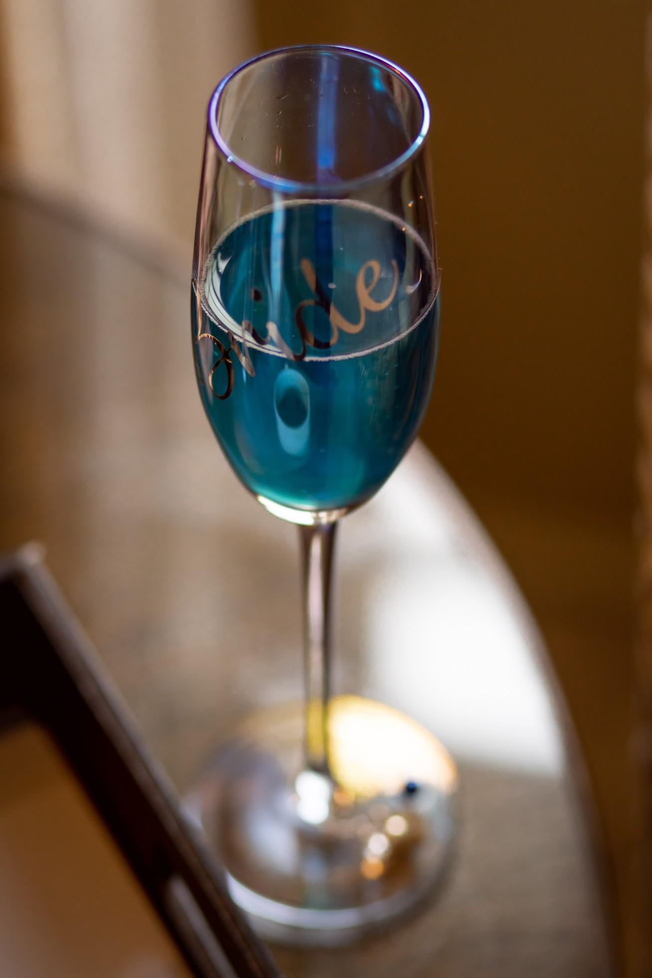blue wedding cocktail