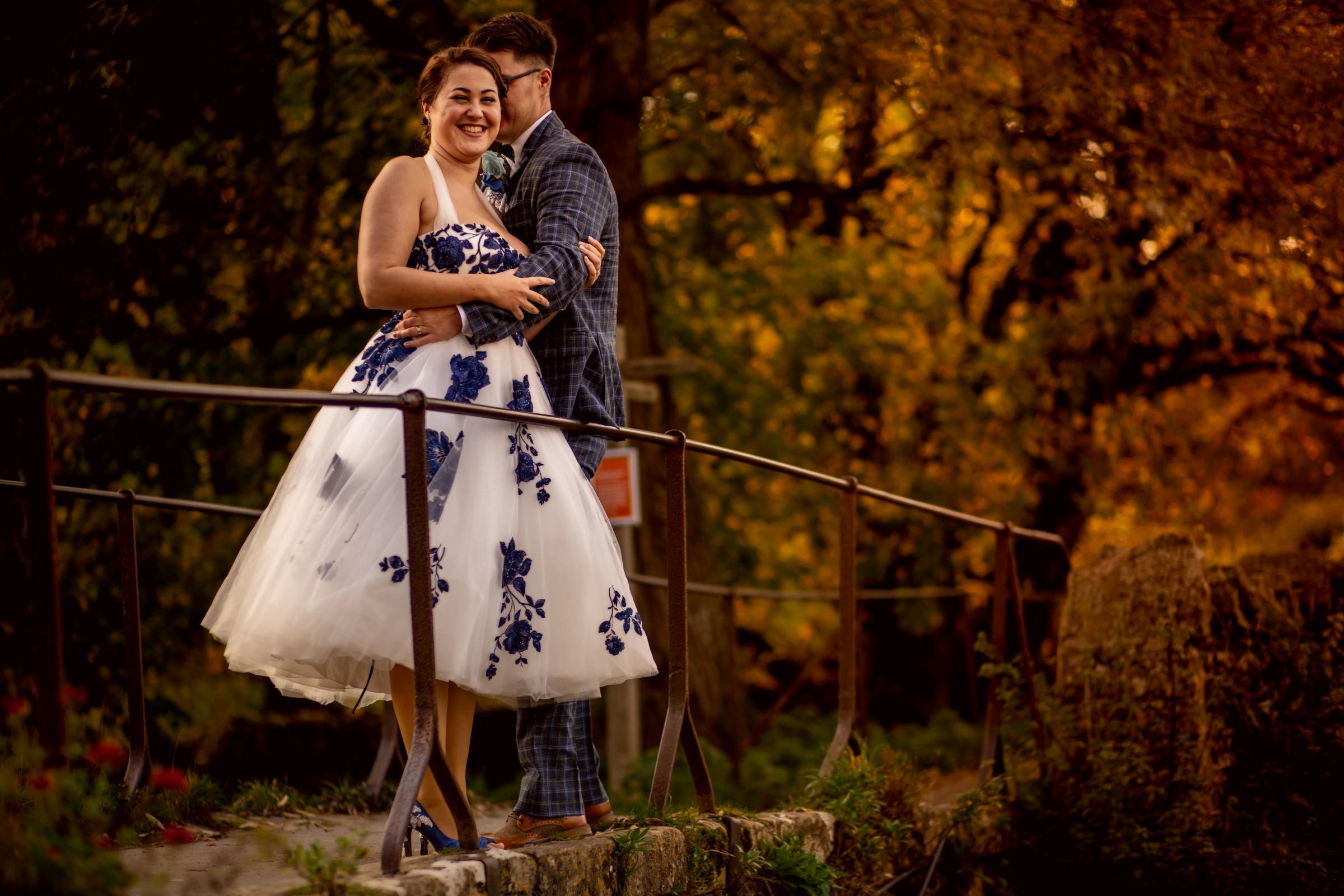 cotswolds wedding - creative wedding photography - unique wedding photoshoot