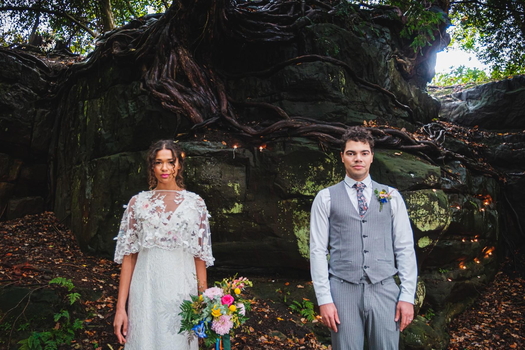 colourful micro wedding at patricks barn - unique wedding venue - sussex wedding venue - small wedding inspiration - unconventional wedding