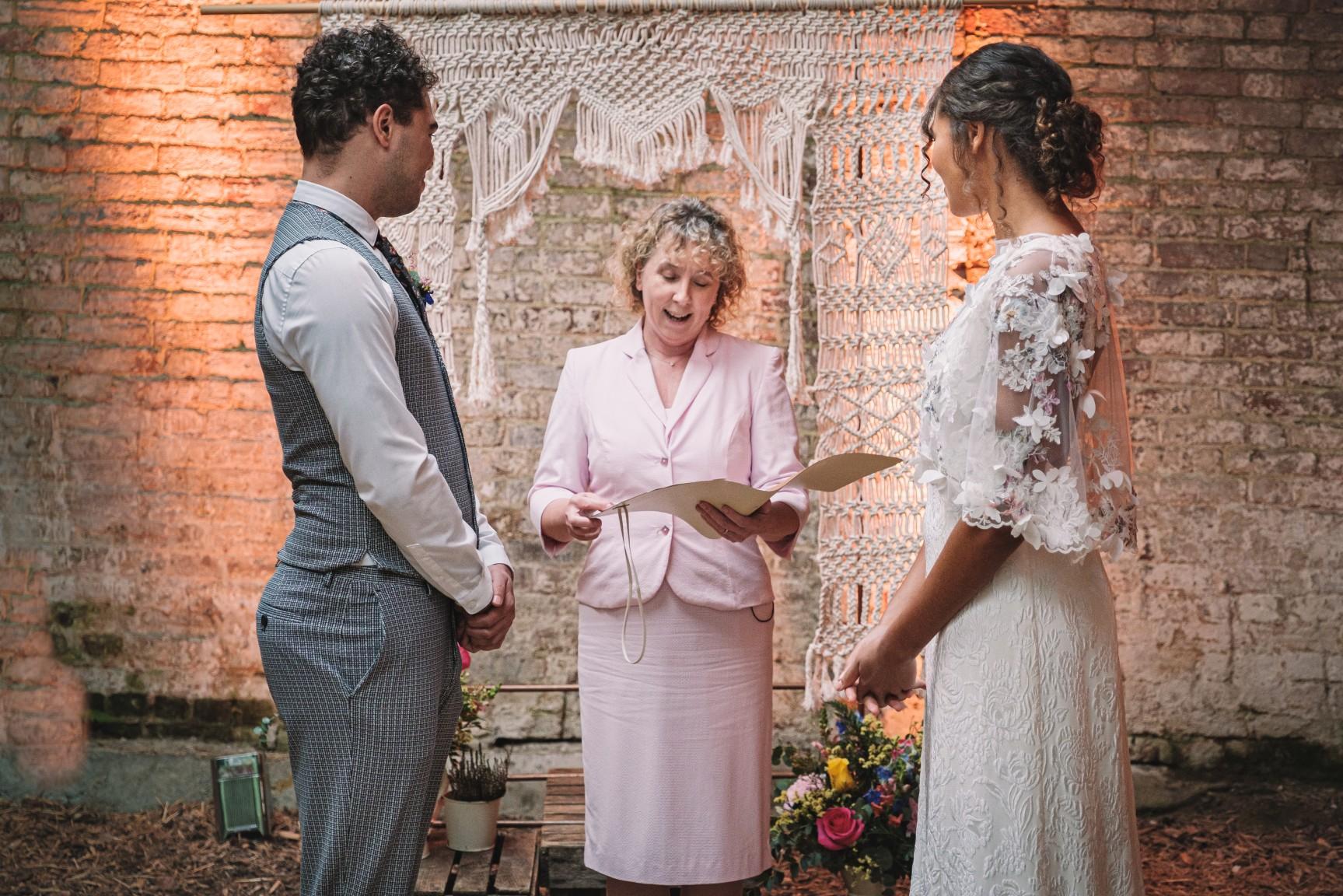 intimate wedding ceremony - bohemian wedding ceremony - celebrant wedding ceremony