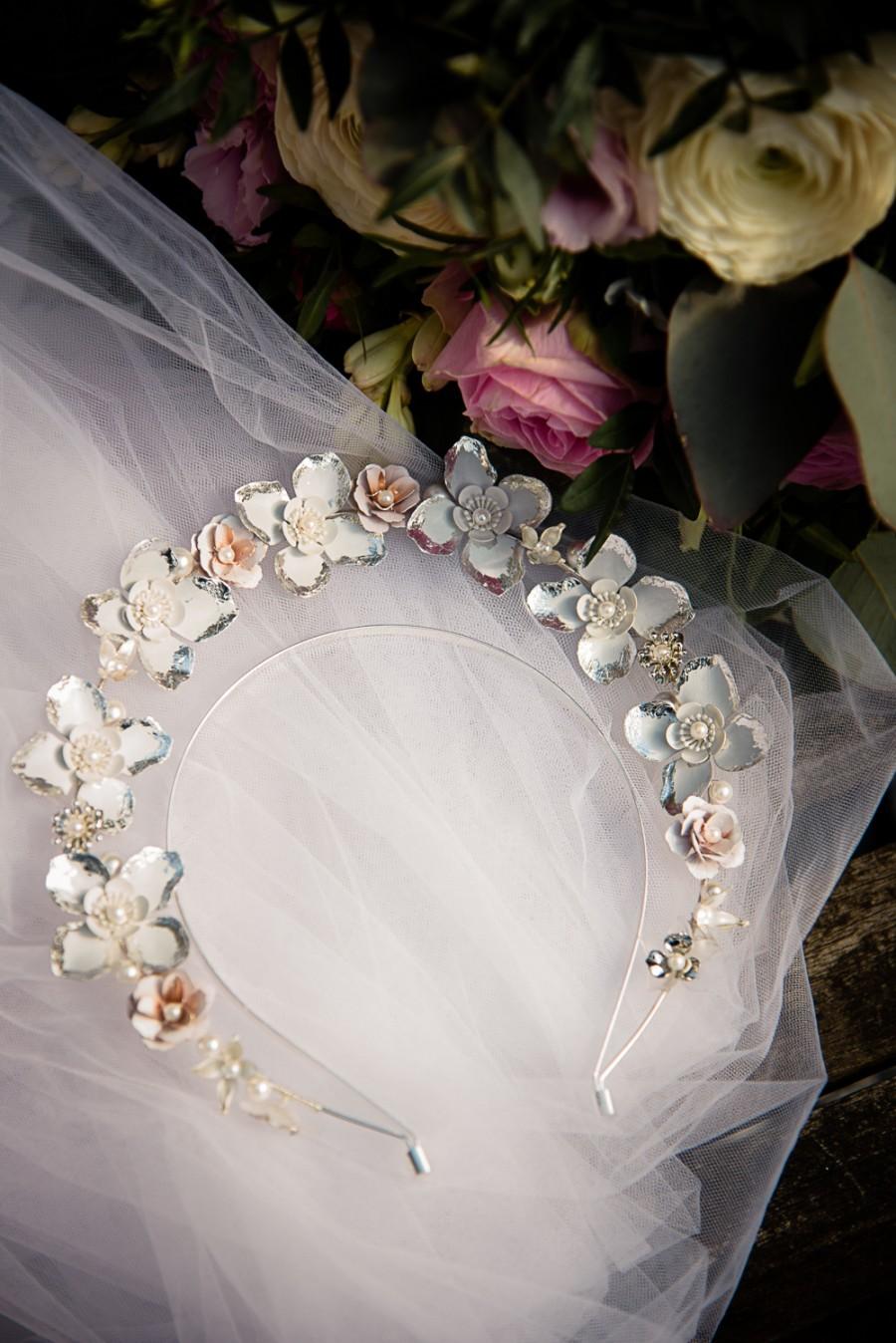 unique bridal headdress - wedding halo headband - unique wedding accessories