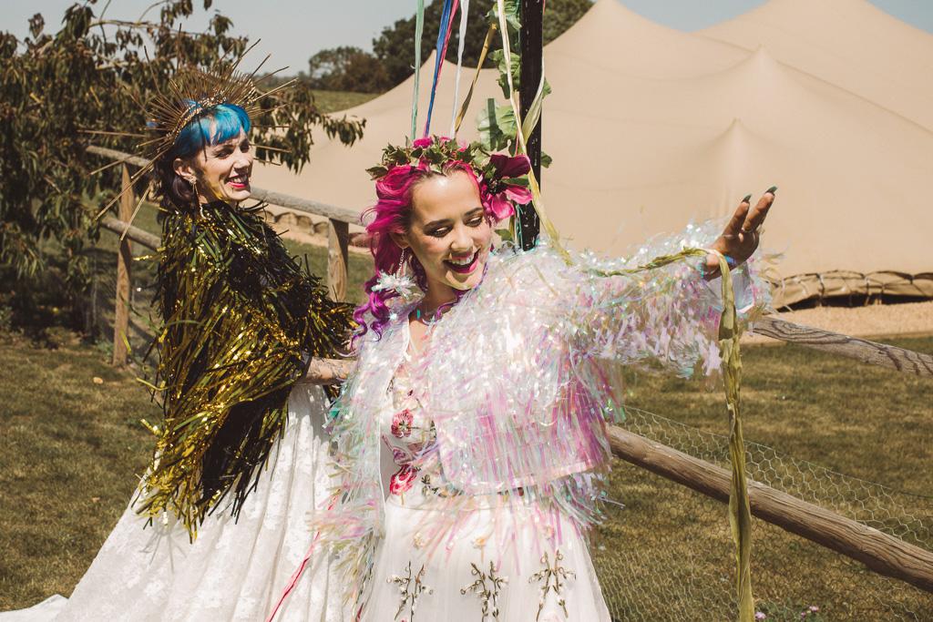 fun festival wedding - festival brides - festival wedding wear - unique bridal wear - alternative bridal wear - unique wedding dress - unconventional wedding
