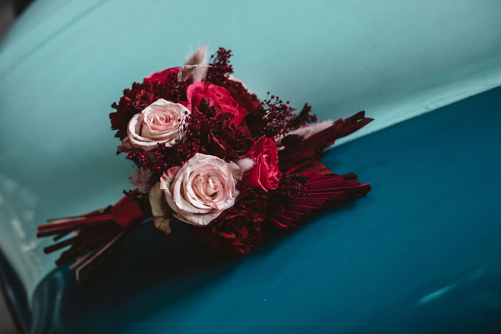 modern industrial wedding - alternative wedding - unconventional wedding - edgy wedding - unique wedding flowers
