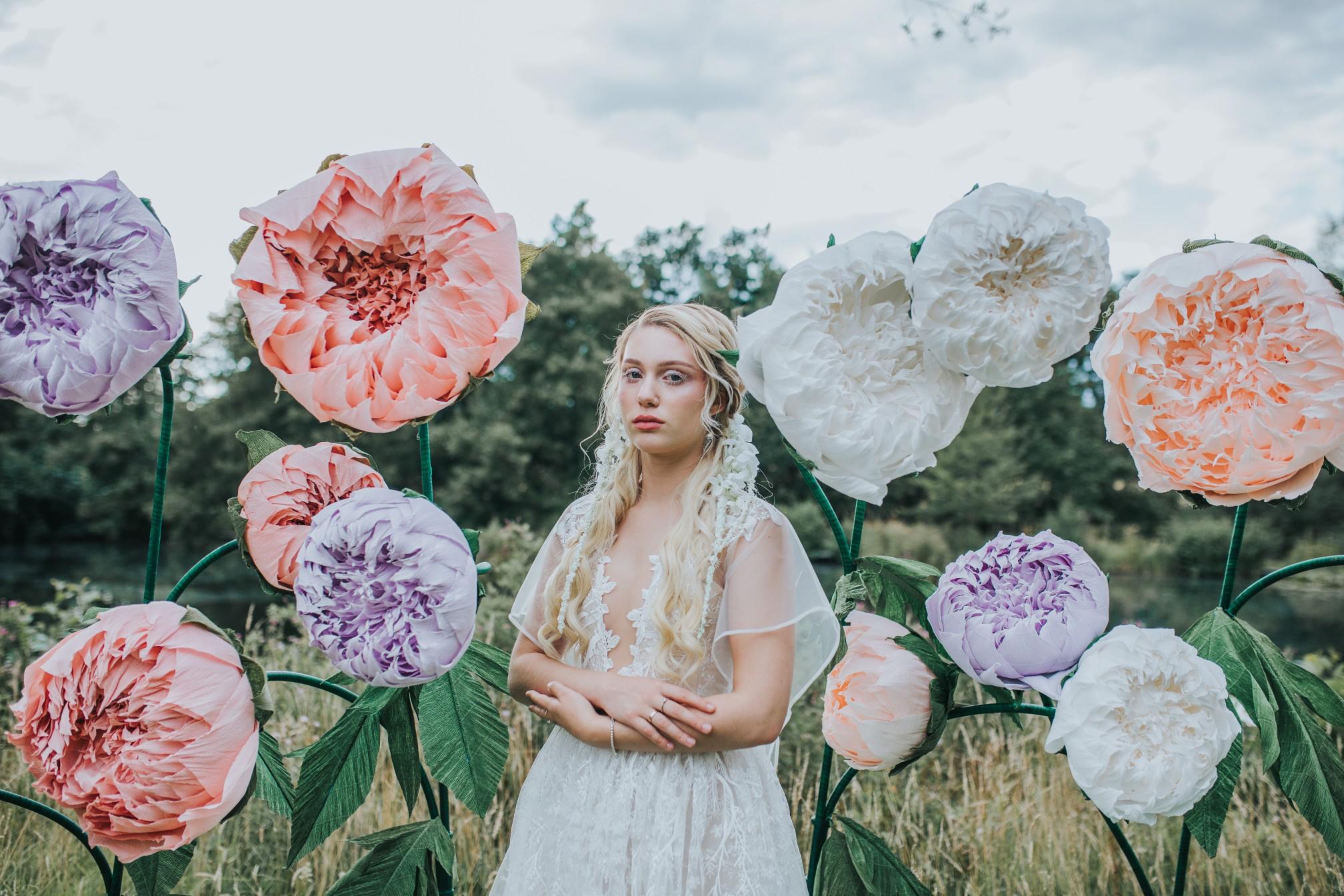 fairy wedding - whimsical wedding - magical wedding - elegant wedding dress - editorial wedding photos