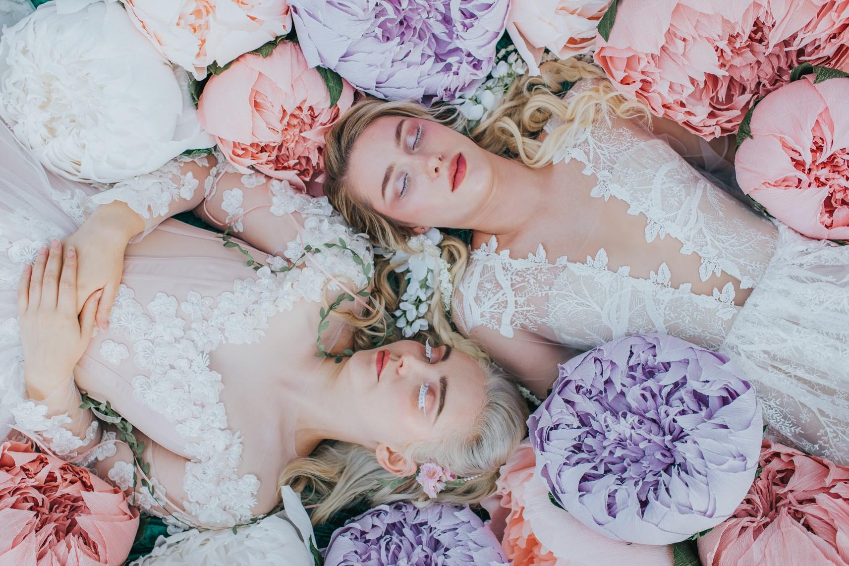 fairy wedding - whimsical wedding - magical wedding - elegant wedding dress - fairytale wedding inspiration