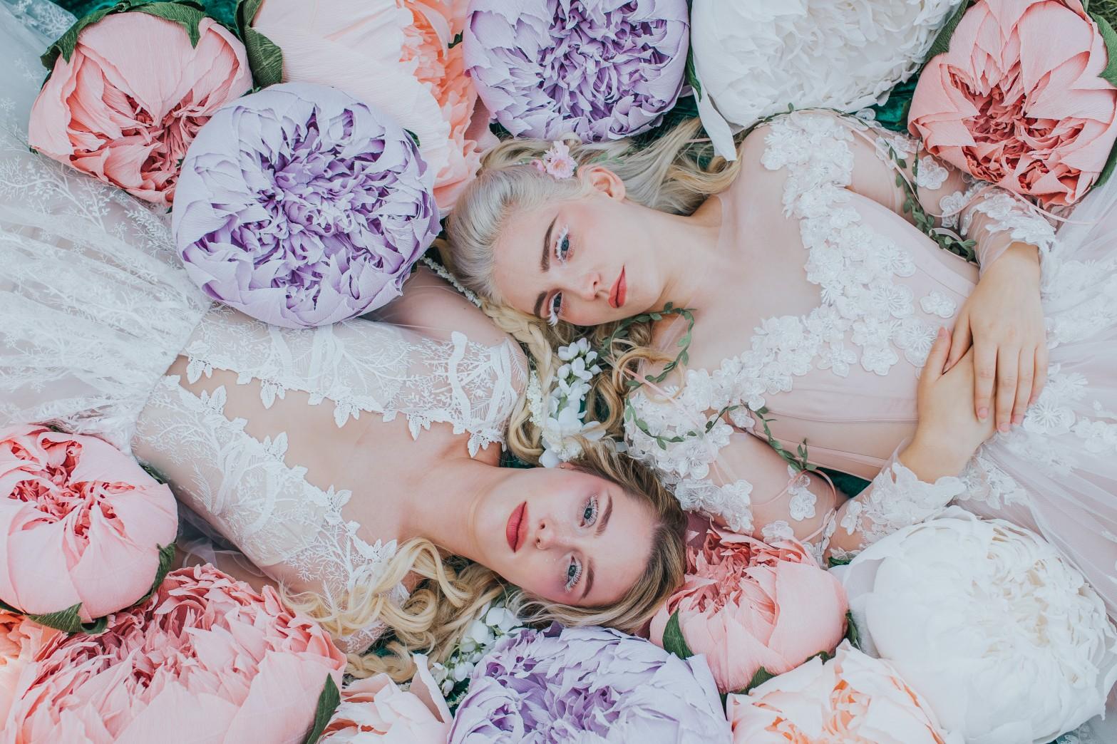 fairy wedding - whimsical wedding - magical wedding - elegant wedding dress - unique wedding dresses - fairytale wedding makeup - artistic wedding photos
