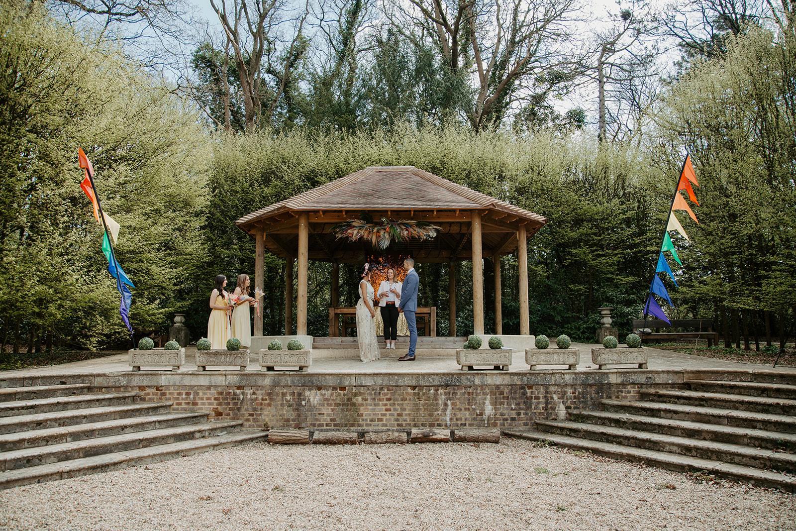 drive in wedding - camper van wedding - outdoor wedding ceremony - celebrant wedding ceremony - small wedding ceremony