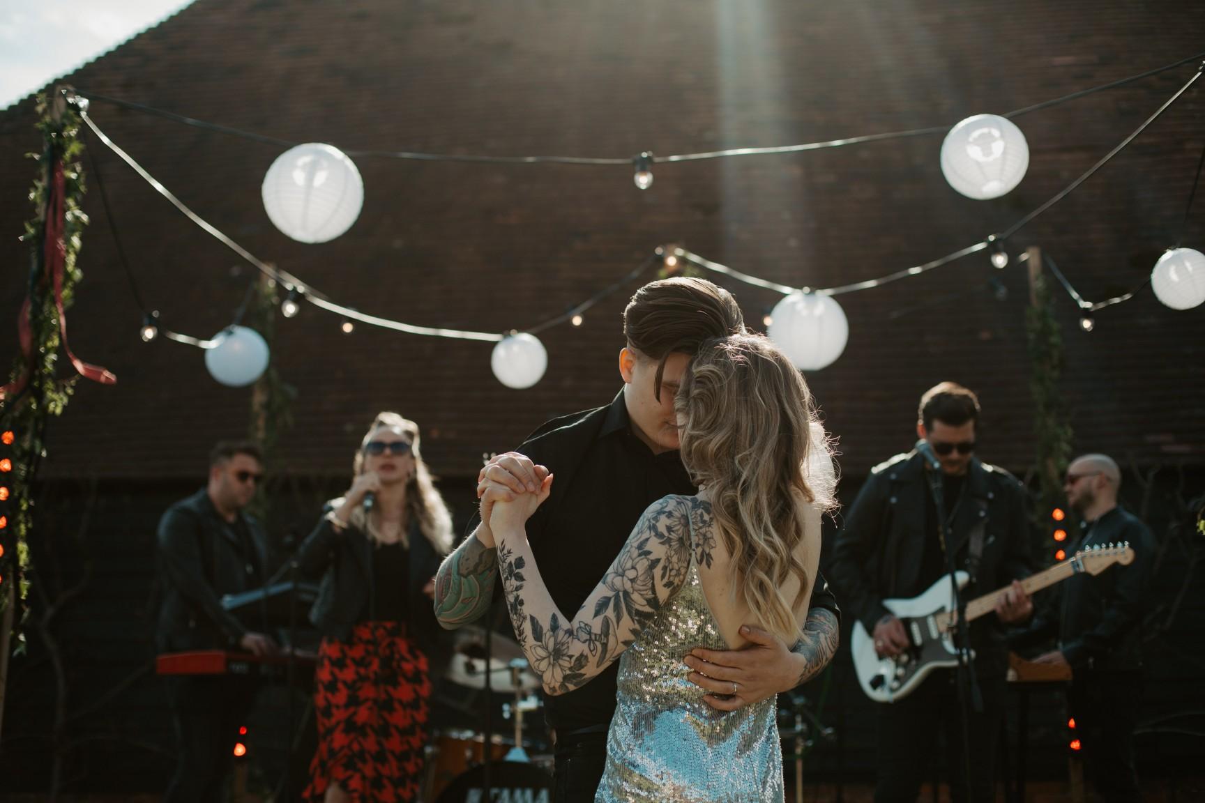 rock and roll wedding - edgy wedding inspiration - fnkhaus wedding band - wedding rock band - outdoor wedding ideas