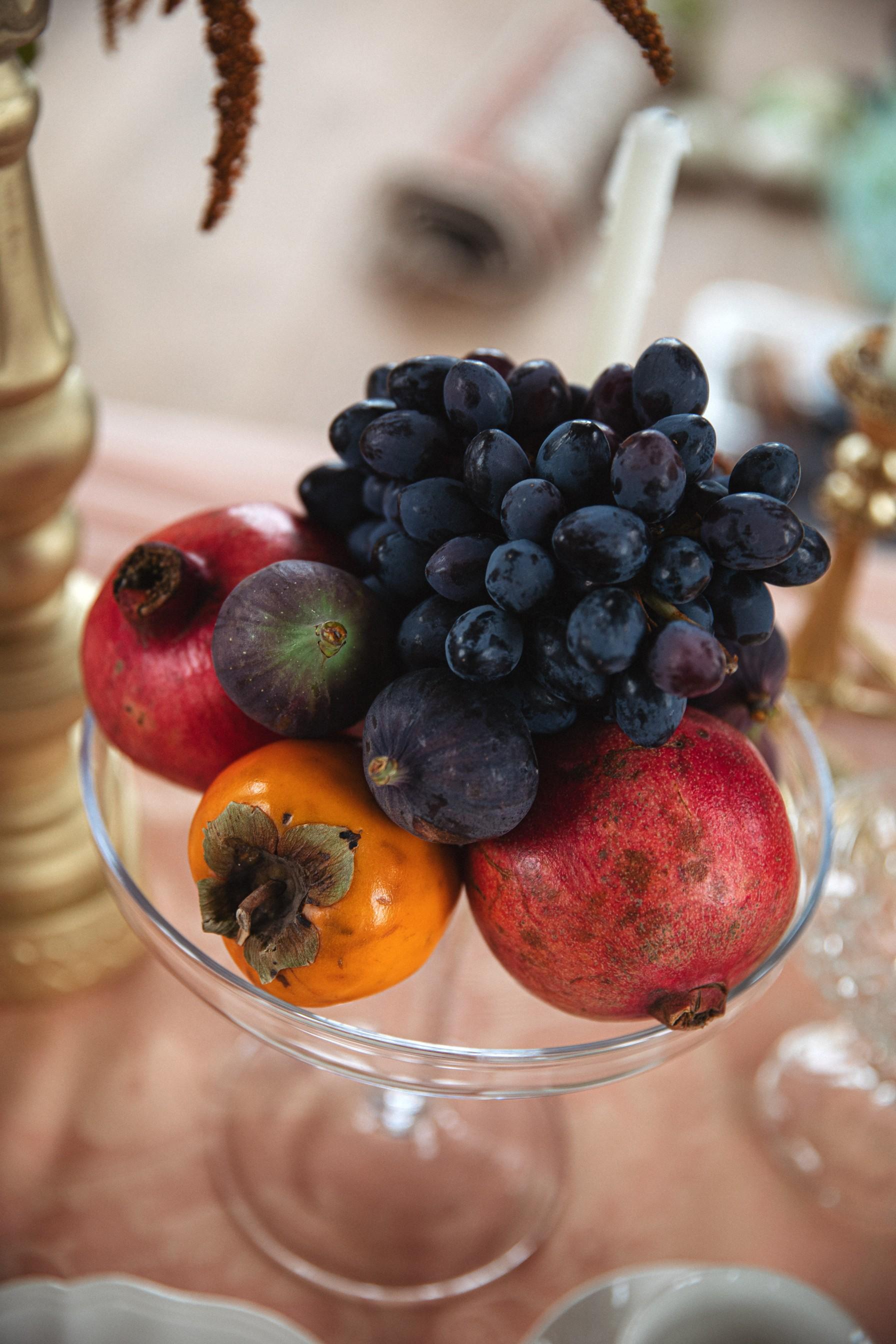 wedding dessert table - wedding fruit display