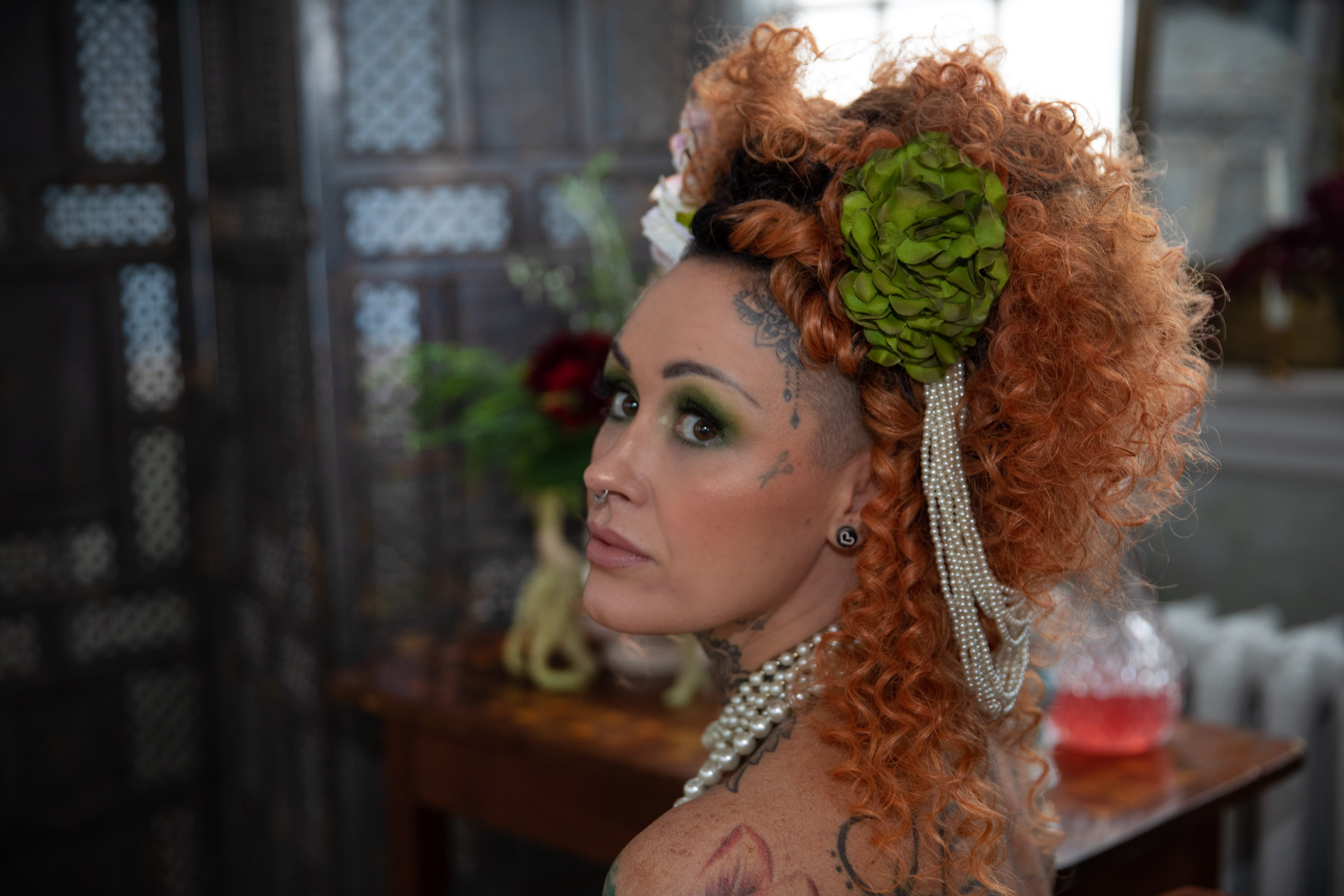 bridgerton wedding - regency wedding - themed wedding - unique bridal hair - alternative bridal look - vintage wedding accessories