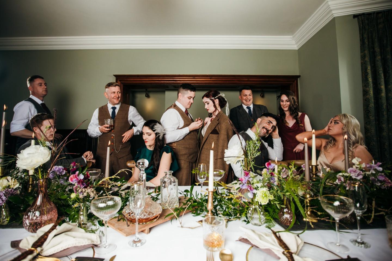 peaky blinders wedding - vintage wedding - 1920s wedding - themed wedding inspiration - dramatic wedding photography