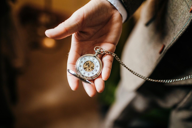 unique grooms wear - grooms accessories - groom with pocket watch - grooms pocket watch - vintage wedding accessories