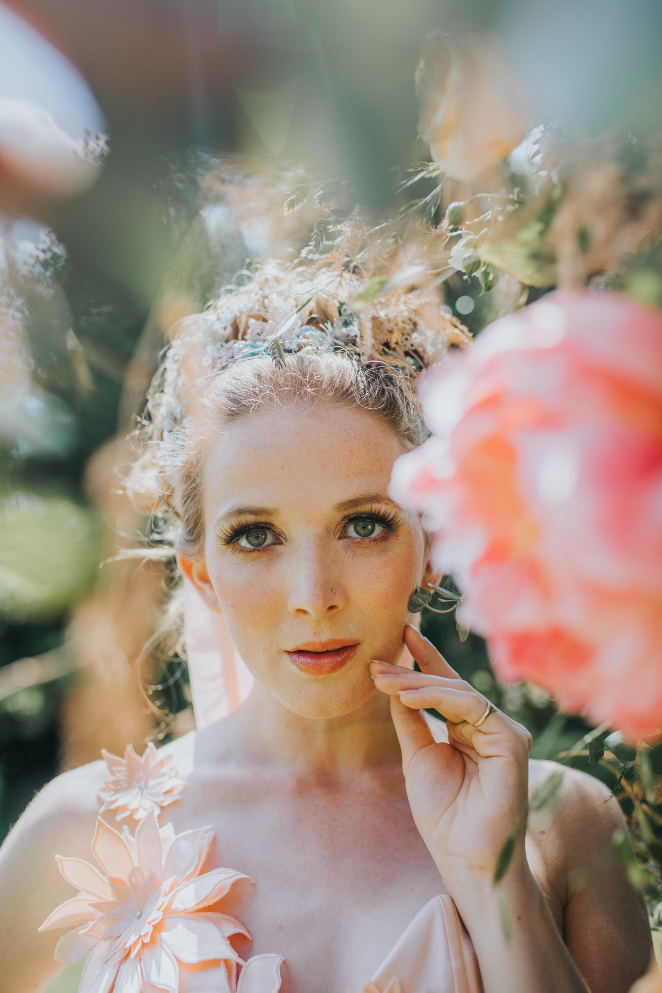 unique bridal portrait - bridgerton wedding - unique bridalwear