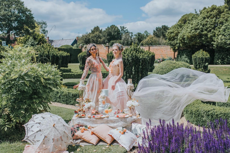 bridgerton wedding - regency wedding - whimsical wedding - vintage wedding - fairytale wedding dress - unique bridal wear - peach wedding dress - unique wedding ideas - unconventional wedding - pink wedding