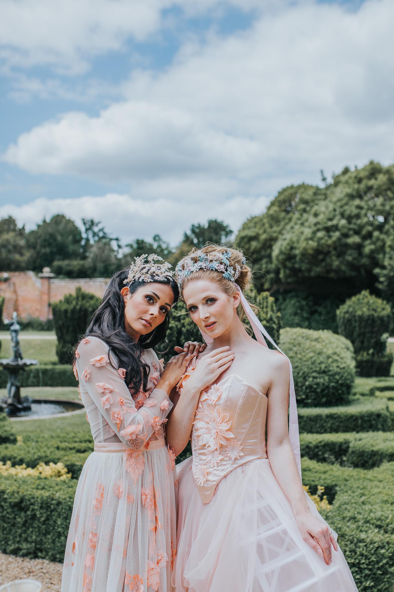 bridgerton wedding - regency wedding - whimsical wedding - vintage wedding - fairytale wedding dress - unique bridal wear - peach wedding dress - unique wedding ideas - wedding editorial