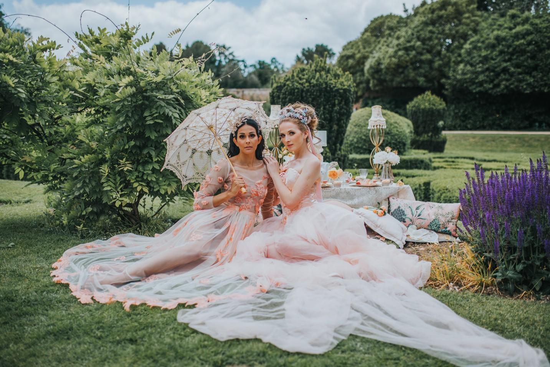 bridgerton wedding - regency wedding - whimsical wedding - vintage wedding - fairytale wedding dress - unique bridal wear - peach wedding dress - unique wedding ideas - unconventional wedding