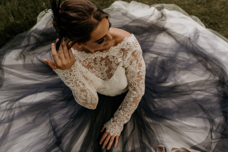 unique wedding dress - alternative wedding dress - coloured wedding dress - black wedding dress