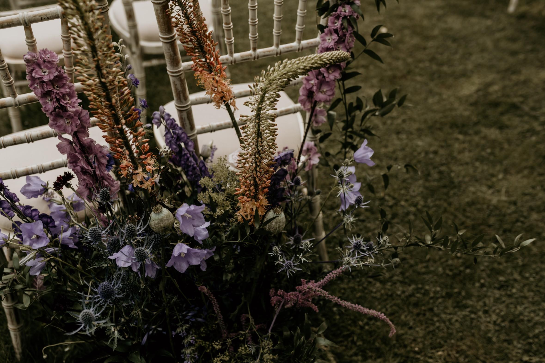 bohemian wedding flowers - wedding wildflowers - unique wedding flowers - boho wedding styling - garden wedding ceremony
